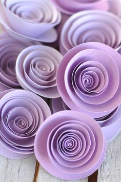 Paper Flowers Lavender Paper Flowers Wedding Table Decorations 25 flowers by lillesyster on Etsy https://www.etsy.com/listing/171319660/paper-flowers-lavender-paper-flowers