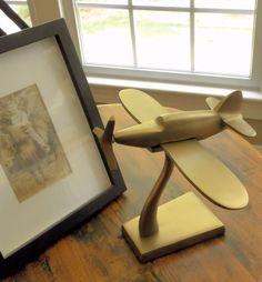 Art Deco Bronzed Single Engine Plane Sculpture