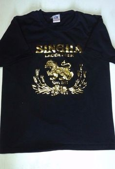 Singha Lager Beer  Black/Gold T-Shirt Size Large L Pre-Owned EX Cond! #Bullhead #GraphicTee