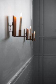 Bar and Co. restaurant brass candlesticks