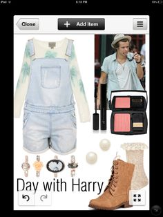 Day with Harry. Made by me! Not posted on ployvore or anything... Just creating for fun:) should I make more?
