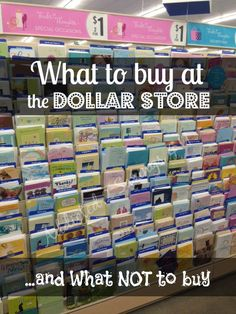 Find out what to #buy from the Dollar Tree and What NOT to #buy! This is a HUGE list with photos