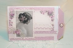 A Birthday card with the new Easter Greeting paper collection and vintage image from Grandma's Attic - tinted