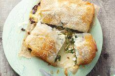 Mediterrane spinazietaart met feta en kikkererwten