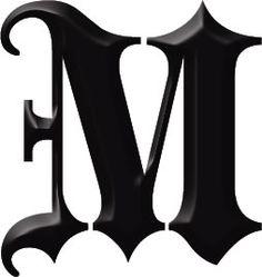 gotische letter m tattoo