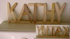 Would have kids decorate with paint or markers then glue together to form letters