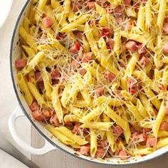 Pretty Penne Ham Skillet Recipe from Taste of Home