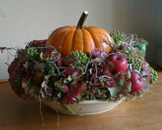 Holiday Pumpkin Centerpiece