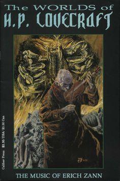 Comic Book - Caliber Press - The Worlds of H.P. Lovecraft The Music of Erich Zann 1993 #caliber #comicbooks #erichzann
