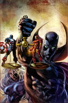 Captain America and Iron Man by Mike Deodato Jr.