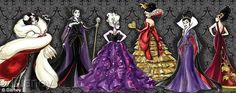 Evil ladies: The collection features Cruella De Vil, Maleficent, Ursula, The Queen of Hearts, The Evil Queen and Mother Gothel