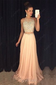 Two Piece Prom Dresses, Aline Prom Dress, Beaded Evening Gowns, Pink Party Dresses, Chiffon Formal Dresses You are in the right place about Prom Dress ombre Here we offer you the most beautiful pictur Pink Party Dresses, Prom Dresses For Teens, A Line Prom Dresses, Tulle Prom Dress, Cheap Prom Dresses, Ball Dresses, Homecoming Dresses, Chiffon Dresses, Graduation Dresses