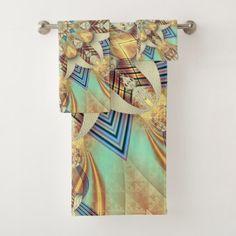 Royal Fractal Bath Towel Set  $55.76  by tedraynorphotos  - custom gift idea