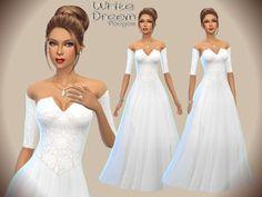 Sims 4 prom dress train