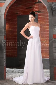 Claire Gown - Wedding Dress - Simply Bridalv$198 - with a strap added?