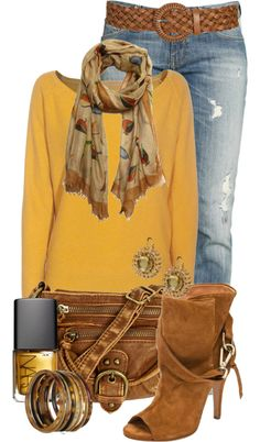 """""""Yellow Sweater"""" by jackie22 on Polyvore"""