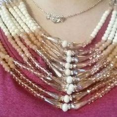 saachi Jewelry - Gorgeous beaded bib stament necklace