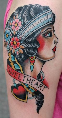 traditional lady head
