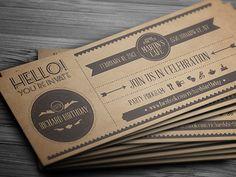 Vintage Invitation Postcard by Vitaly