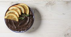 Chocolate avocado mousse with orange by Greek chef Akis Petretzikis. A healthy, light and super delicious dessert that is perfect for a snack or special treat! Chocolate Desserts, Fun Desserts, Delicious Desserts, Avocado Mousse, Orange Recipes, Sugar Free, Vegan Recipes, Favorite Recipes, Treats