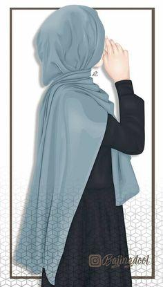 A scarf is the central portion inside the garments of girls having hijab. Anime Muslim, Muslim Hijab, Hijabi Girl, Girl Hijab, Muslim Pictures, Hijab Drawing, Lovely Girl Image, Muslim Women Fashion, Hijab Cartoon