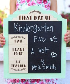 Another great find on #zulily! 'First Day' Large Chalkboard Sign by Morgann Hill Designs #zulilyfinds