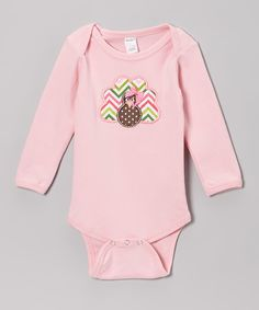 This Pink Turkey Bodysuit - Infant by Holiday by Petunia Petals is perfect! #zulilyfinds