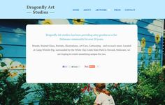 Web design for a Delaware artist who does amazing work