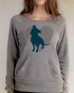 Pit Bull Sweatshirt W/ Pocket  Free Shipping in by DogCityandCo, $38.00