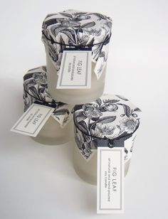 Wild Flowers & Honey Candle in Frosted Glass - By Sweet Petula Candle Packaging, Flower Packaging, Pretty Packaging, Brand Packaging, Product Packaging, Packaging Design Inspiration, Burning Candle, Frosted Glass, Candle Making