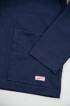 Arpenteur Navy Cotton Jersey Tricot Jacket