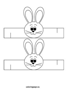easter-bunny-napkin-ring-template - Do it my self Bunny Crafts, Easter Crafts For Kids, Preschool Crafts, Birthday Party Hats, Happy Birthday Parties, Easter Printables, Art Activities, Napkin Rings, Art For Kids