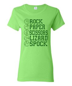 Take a look at this Kiwi 'Lizard Spock' Fitted Tee - Women on zulily today!