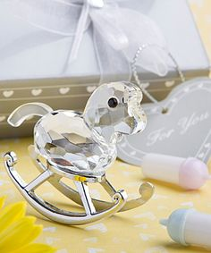 Crystal Rocking Horse Favors Baby Birthday Shower