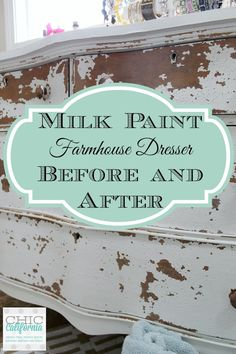 Milk Paint Farmhouse Dresser: Before and After - Chic California