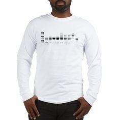 DNA Gel B/W Long Sleeve T-Shirt on CafePress.com
