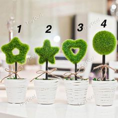 Garden Green Tree Style Artificial Plants Flower Pot Simulation Potted Plants HHI-278086