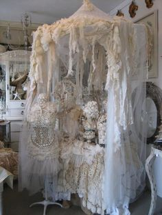 Beautiful lace canopy - a bit over-the-top, but really pretty inspiration