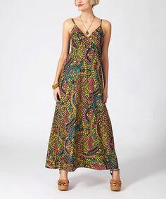Look what I found on #zulily! Yellow & Blue Mosaic Maxi Dress #zulilyfinds