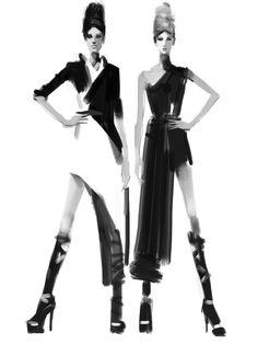 Fashion Sketches on iPad by ~zhuzhu on deviantART