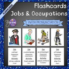 Jobs and Occupations ESL Flashcards (w/Pronunciation)