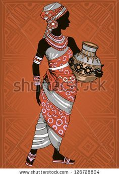 """Find """"african dress"""" stock images in HD and millions of other royalty-free stock photos, illustrations and vectors in the Shutterstock collection. African Girl, African American Art, African Dress, Black Women Art, Black Art, Afrique Art, African Art Paintings, African Culture, African Design"""