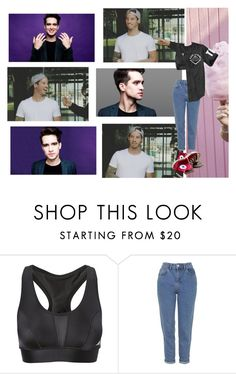 """Day out."" by sxfiaalvarez ❤ liked on Polyvore featuring Topshop and Converse"