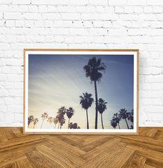 Beach Digital Download Photo, Wall Art Print, Waves, Palm Trees Photo, Digital Download, Printable Poster, Beach House Decor, Beach Art