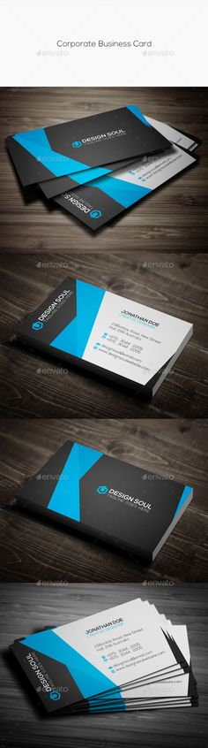 Corporate Business Card Template #design #print Download: http://graphicriver.net/item/corporate-business-card/11949328?ref=ksioks