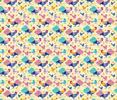 Chicken Family fabric by oksancia on Spoonflower - custom fabric