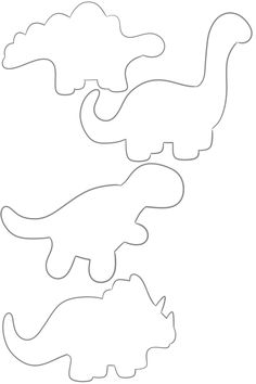Dinosaur Outlines -