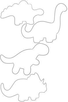 Dinosaur Outlines - stegosaurus, argentinosaurus, trex, triceratops