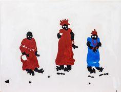 """'La Cour du Roi """", 2013 akryl na płótnie.  130 x 170 cm / 51.18 x 66.93 w. Dzięki uprzejmości artysty i Sztuki dwadzieścia jeden"""