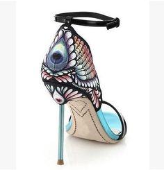Sophia Webster High heels butterfly back sandal,butterfly decoration sandal women,party sandal